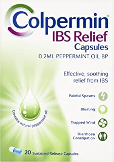 Colpermin Peppermint Oil Capsules 20 Capsules for Irritable Bowel Syndrome