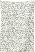 Lunarable Eucalyptus Tapestry, Monochrome Foliage Pattern Tropical Leaves Aromatherapy Theme, Fabric Wall Hanging Decor for Bedroom Living Room Dorm, 30