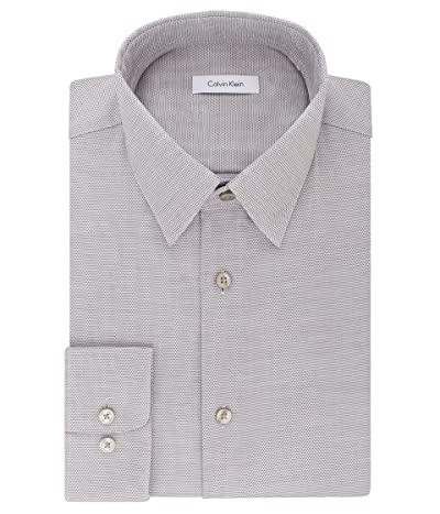 Calvin Klein Dress Shirts Non Iron Regular Fit Stretch Unsolid Solid