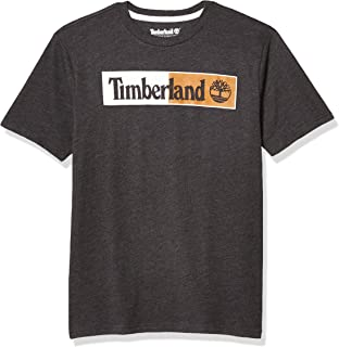Timberland Boys' Short Sleeve Crew Neck Screenprint T-Shirt