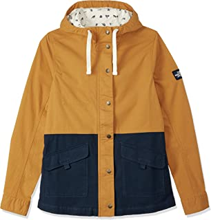 The North Face Women's RIDGESIDE UTLTY Jacket, Citrine Yellow/Urban Navy