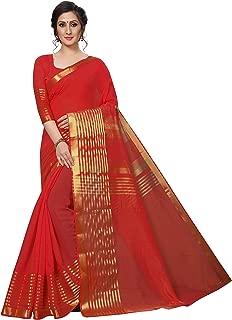 Rensila Fab Women's Cotton Silk Saree (RLA_ALIAA RED_S_Red_Free Size)