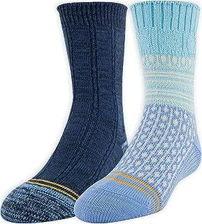 Girls' Soft Spun Texture Boot Socks, 2 Pairs