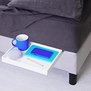 BedShelfie The Original Bedside Shelf - 9 Colors / 4 Sizes - AS SEEN ON Business Insider (Slide Style, White)
