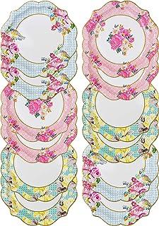 Talking Tables Talking Tables Truly Scrumptious Pretty Plates 12 Pieces. 21 5 cm Diameter