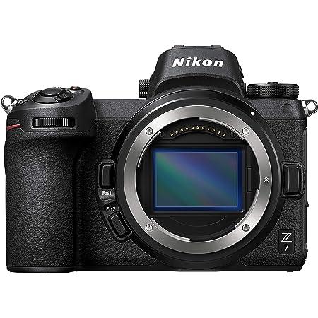 Nikon Z7 Full-Frame Mirrorless Interchangeable Lens Camera with 45.7MP Resolution, Body, Black, 1591