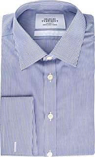 Extra Slim Fit Non Iron Mens Dress Shirts with French/Double Cuff