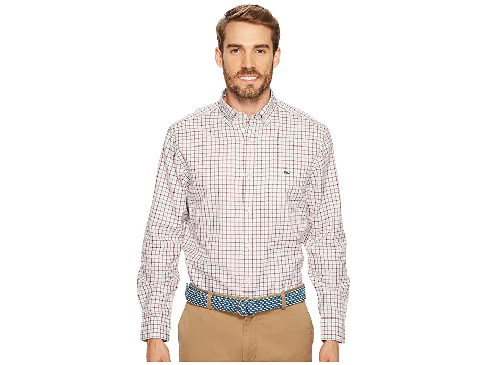 Vineyard Vines Cocktail Club Check Classic Tucker Shirt (Red Wine) Men