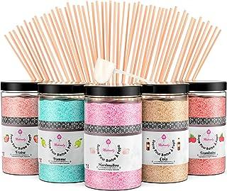 Misskandy, sucre barbe à papa pour machine/ lot de (5*300Gr)= 1,5kg/ arômes:Fraise, Pomme, Marshmallow, Cola, Framboise/ p...