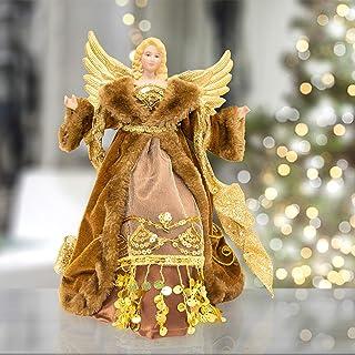 comprar comparacion The Christmas Workshop 81840Figura de 30,48cm de ángel Tradicional para Parte Superior para árbol de Navidad, Cobre