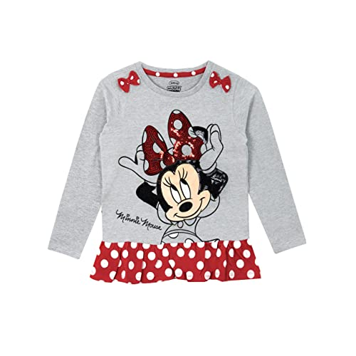 daf322ff Disney Minnie Mouse Girls Minnie Mouse Long Sleeved Top Ages 12 Months to 8  Years