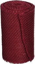DARICE 2914-044 240gm Burlap Ribbon, 6-Inch by 5-Yard, Red