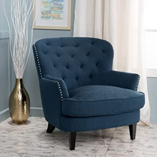 Christopher Knight Home 299960 Tilla Arm Chair, Dark Blue