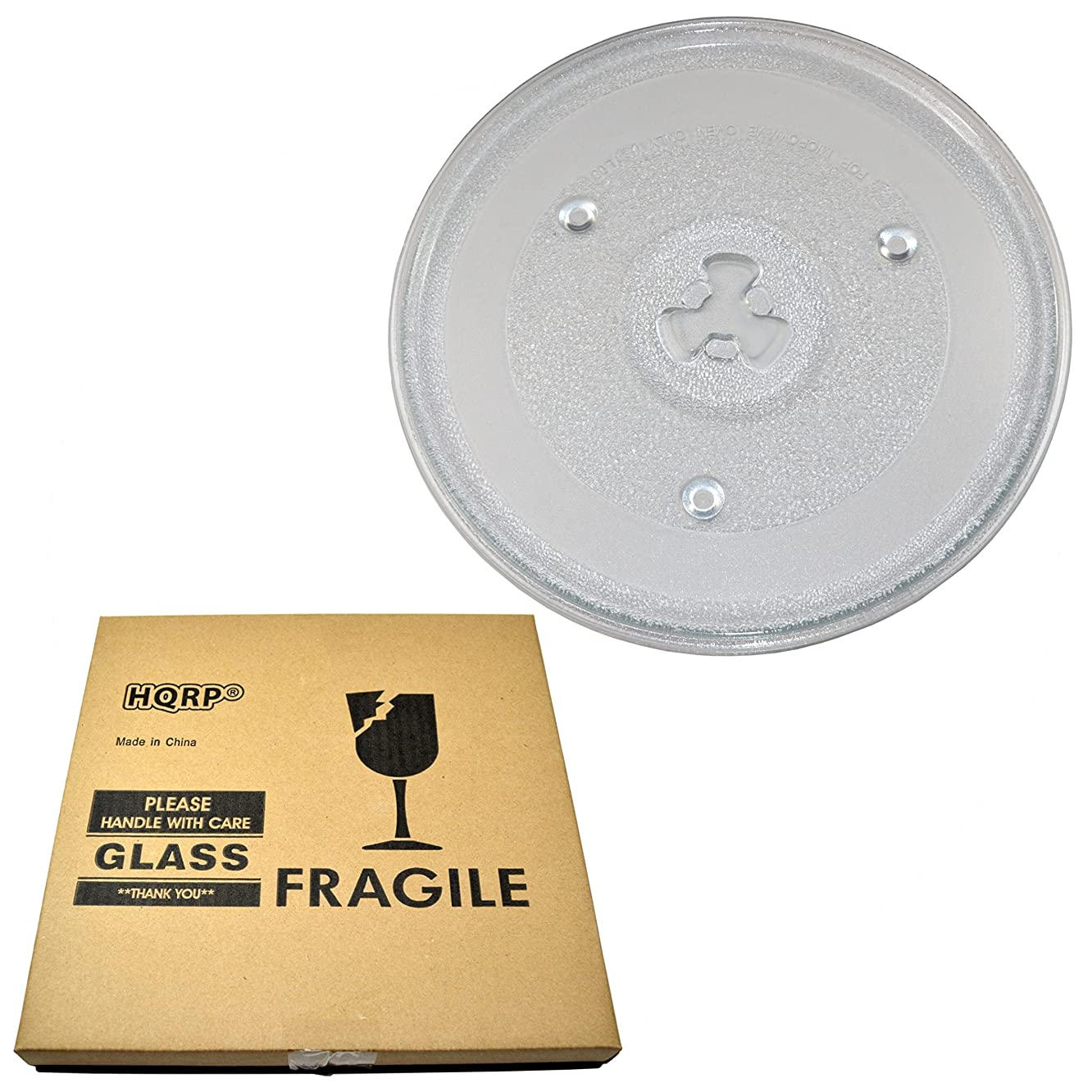 HQRP 10-1/2 inch Glass Turntable Tray for Rival 252100500497 RGST902 Microwave Oven Cooking Plate 270mm + HQRP Coaster