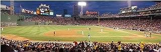 ArtsyCanvas Fenway Park Green Monster - Baseball Field - 36x12 Matte Poster Print Wall Art