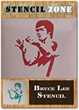 Bruce Lee Fighting Martial Arts Mylar Airbrush Painting Wall Art Crafts Stencil (A1 Size Stencil - XLarge)