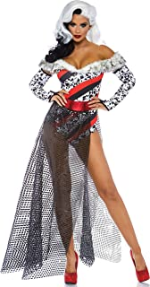 Leg Avenue Women's Dalmatian Dame Cruella Costume