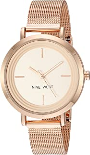 Nine West Women's Gold-Tone Mesh Bracelet Watch