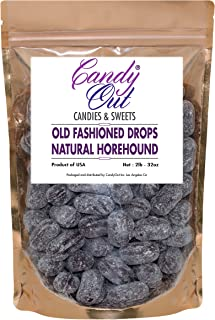 Natural Horehound Drops 2 Pounds Old Fashioned Hard Candy in CandyOut Sealed Stand Up Bag
