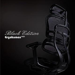 Ergohuman特約店特注モデル WORKAHOLIC 限定発売 アルミフレームブラック塗装 完成品 漆黒のエルゴヒューマン Ergohuman Pro Black Edition (エルゴヒューマンプロ ブラックエディション)