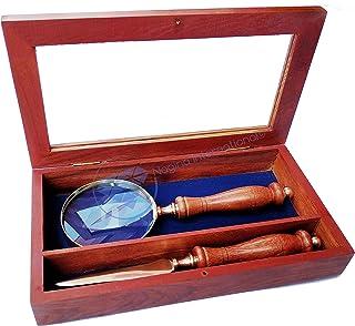 Wooden Magnifying Glass Box Set - Nagina International