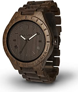 Men's Wooden Watch Black Edition - Wrist Watch Made of Natural Sandalwood - Nature & Lifestyle for Mens