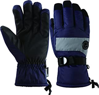 HighLoong Kids Waterproof Ski Snowboard Gloves Breathable Thinsulate Lined Winter Cold Weather Gloves for boys and girls