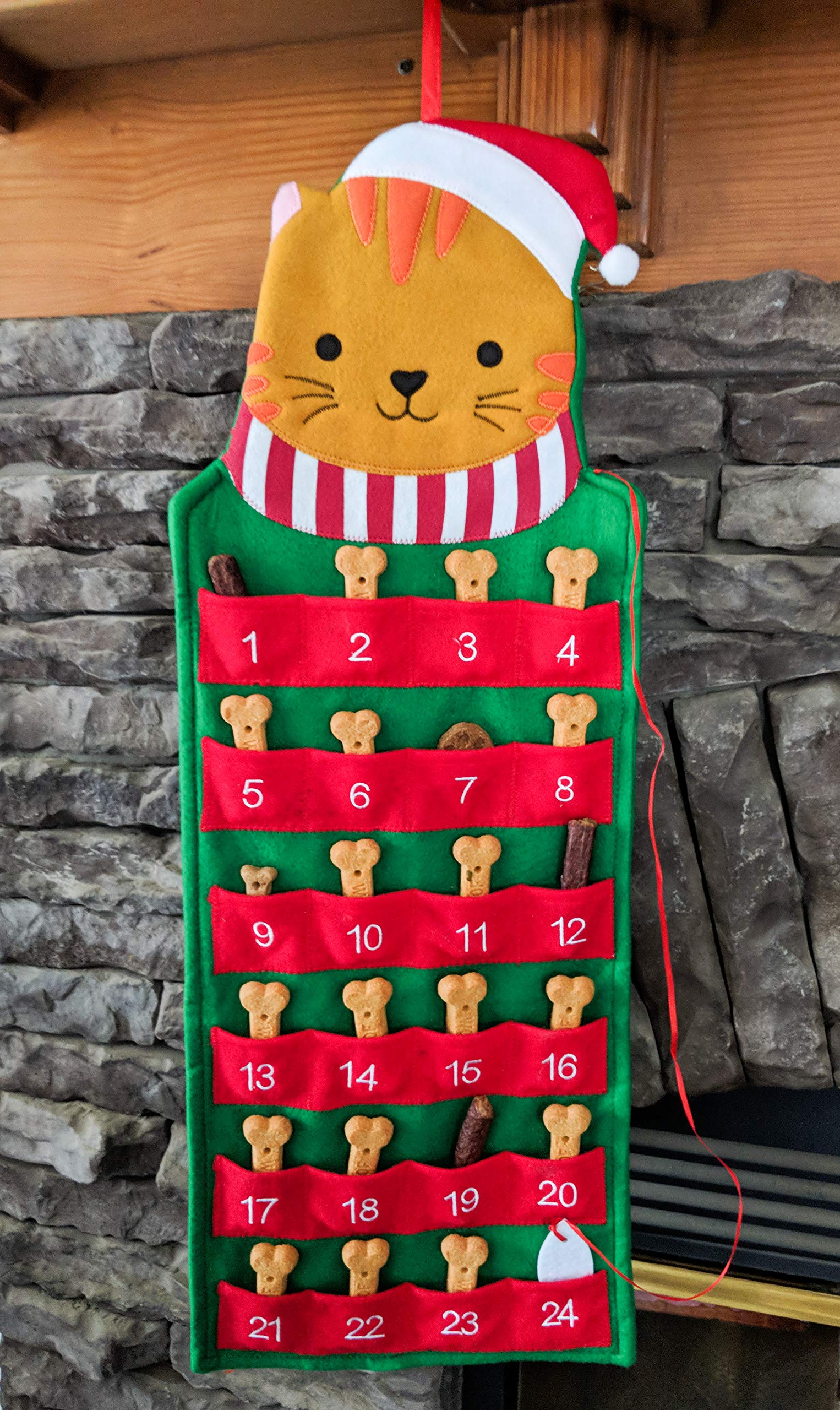 Cat Pet Advent Holiday Calendars Advent Calendar Christmas Advent Calendar For Cats And Kittys With Pockets Christmas Countdown With Treats Hanging Felt Cat Christmas Christmas D Cat Advent Calendar Amazon Com Au Home