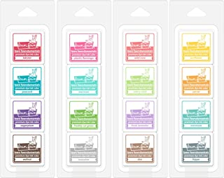 Lawn Fawn Mini Ink Cube Pack Bundle with Candy Store, Gazebo, Tea Party, Tropical Island (Set of 4 Items)