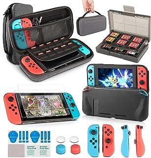 comprar comparacion innoAura 11 en 1 Kit accesorios para Nintendo Switch, con funda de transporte, Estuche De Juegos, funda de TPU, fundas par...