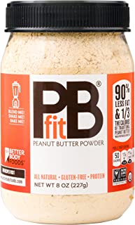 PBfit — All-Natural Peanut Butter Powder, Produced by BetterBody Foods, 8 Ounce