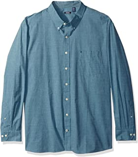 IZOD Men's CLEARANCE Big and Tall Button Down Long Sleeve...