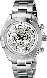 Stuhrling Original Symphony Elite Men's Automatic Watch with Silver Dial Analogue Display and Silver Stainless Steel Bracelet 487.01