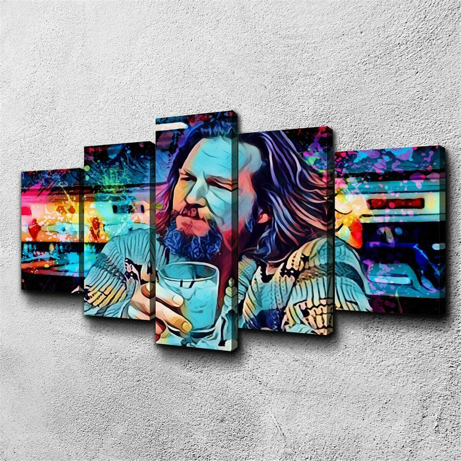 sold out 5 Weekly update Piece Canvas Painting The Big Poster Prints Fram Lebowski Dude