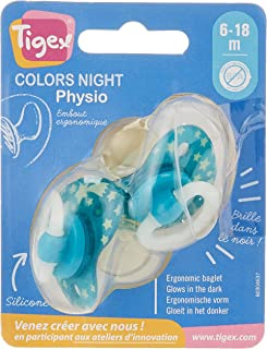 Tigex 2 Piece Night Orthodontic Physiological Soothers Green, 3159921201847