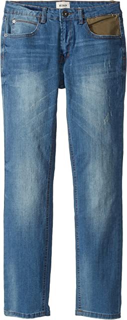 Hudson Kids - Jagger Slim Straight Five-Pocket Jeans in Zenith (Big Kids)