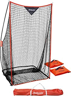GoSports Football 7' x 4' Kicking Net - Sideline Practice for Punting or Place Kicks, Ultra-Portable Design with Weighted ...