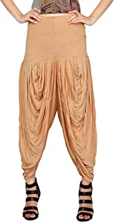 Carrel Viscose Fabric Women Solid Dhoti Patiala(AGSPL-3291-IYE-PT-33)