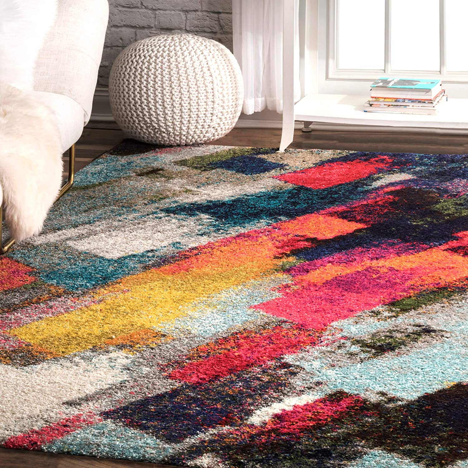 nuLOOM Paisley Bohemian Abstract Shag Area Multi 10' 8' Challenge the lowest price of Albuquerque Mall Japan x Rug