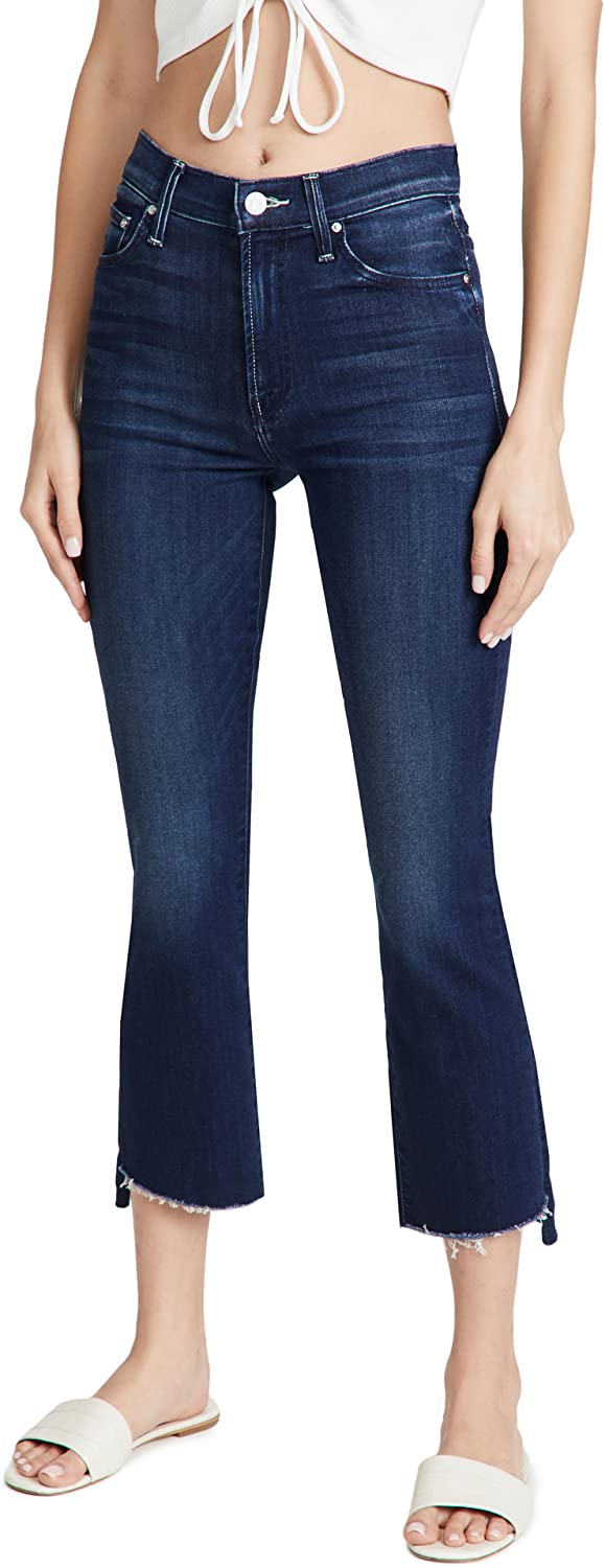 Don't miss the campaign MOTHER Max 78% OFF Women's The Insider Fray Step Jeans Crop