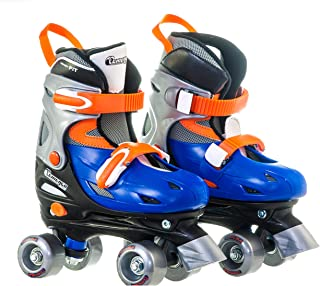 Chicago Boy's Adjustable Quad Roller Skate, Blue/Silver