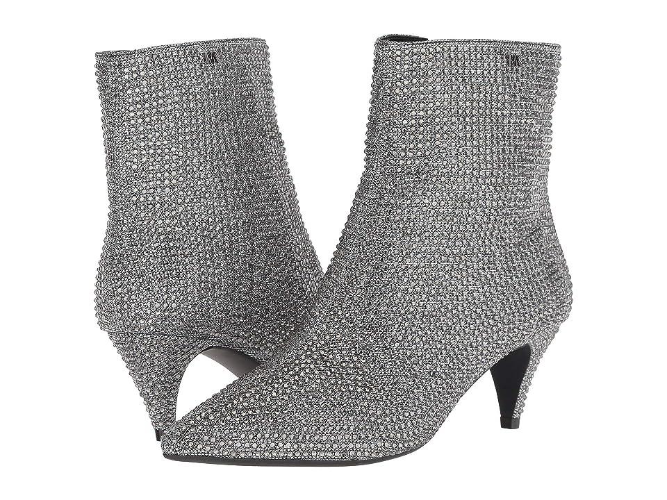 MICHAEL Michael Kors Blaine Flex Kitten Bootie (Black/Silver Glitter Chain Mesh/Hot Fix Stones) Women
