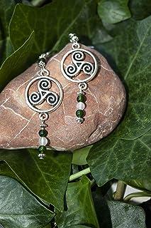 Pendientes con el símbolo celta del Triskel/Regalo mujer celta/Boho/Pendientes yoga/Pendientes espirituales/Druida/Celtas/...
