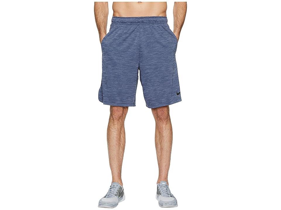 Nike Dri-FIT Heathered 9 Training Short (Light Carbon/Black) Men