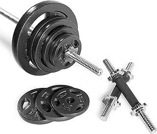 CAP Barbell RWSB-160T Regular Weight Set with 6' Threaded Standard bar, 160 lb