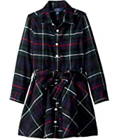 Polo Ralph Lauren Kids - Tartan Flannel Cotton Dress (Little Kids)