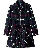 Polo Ralph Lauren Kids - Tartan Flannel Cotton Dress (Little Kids)