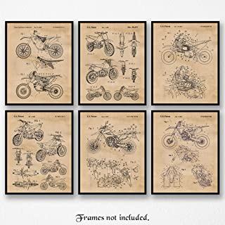 Original Honda, Yamaha, Kawasaki, KTM Motocross Dirt Bikes Poster Prints, Set of 6 (8x10) Unframed Photos, Wall Art Decor Gifts Under 20 for Home, Office, Garage, Man Cave, College Student, X Games