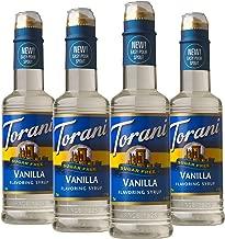 Torani Sugar Free Vanilla Syrup 12.7 Ounce, 4 Count