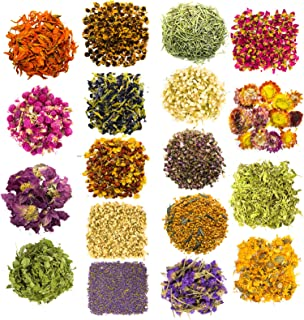 Sponsored Ad - Dried Herbs and Flowers for Witchcraft Spells - Pack of 18 Variety Bulk Real Dry Flower Bags - Great for DI...